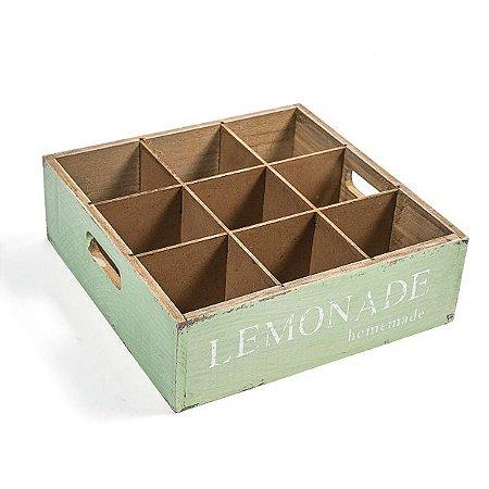 Engradado para Garrafinhas Vintage Mint - 9 lugares - 1 Unidade