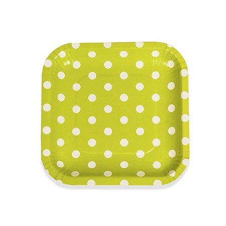 Pratos Quadrados de Papel  Poás - Embalagem com 10 Unidades