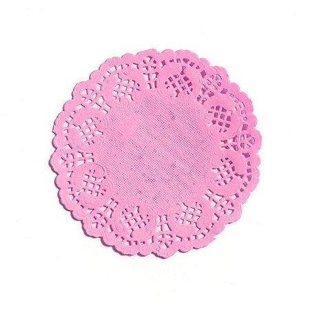 Toalhas Rendadas Doilies Coloridas - 9 cm - Embalagem com 12 Unidades