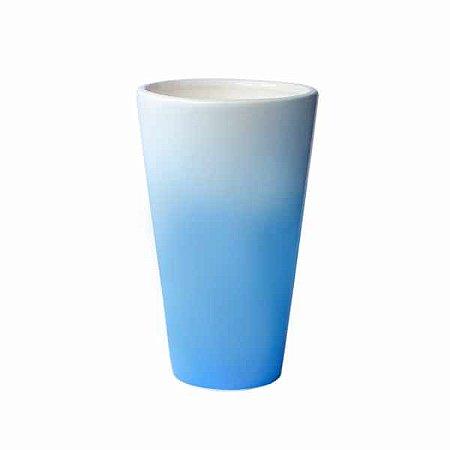 Vaso de Cerâmica Blue Jasmine - 22 x 13 cm - 1 Unidade