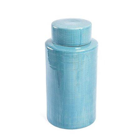 Vaso de Cerâmica Bali Azul - 37 cm - 1 Unidade