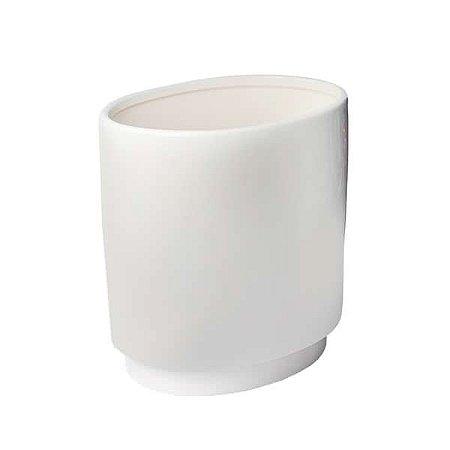 Vaso de Cerâmica Off White - 23 x 22 cm - 1 Unidade