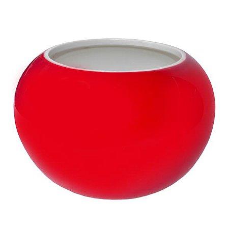 Vaso de Cerâmica Raisse Vermelho - 10 x 11 cm - 1 Unidade