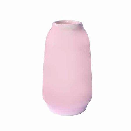 Vaso de Cerâmica Floriam Rosado - 14 x 6 - 1 Unidade