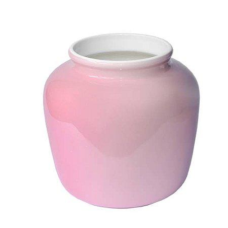 Vaso de Cerâmica Floriam Rosado - 16.5 x 11 cm - 1 Unidade