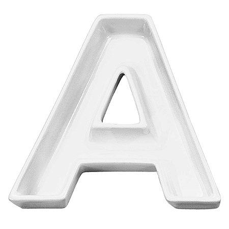 Letra A Decorativa de Cerâmica - 19 cm - 1 Unidade