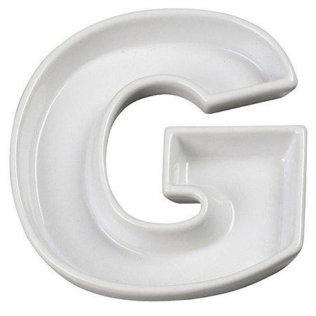 Letra G Decorativa de Cerâmica - 19 cm - 1 Unidade