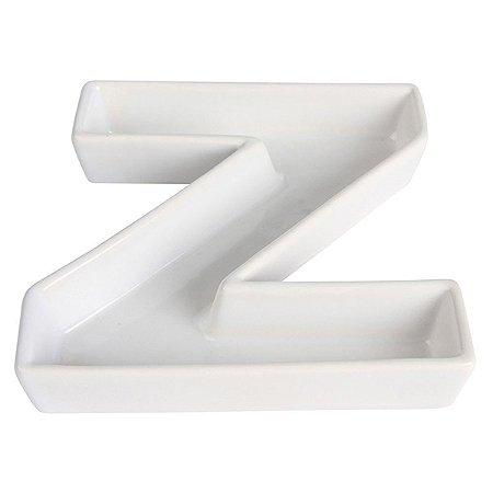 Letra Z Decorativa de Cerâmica - 19 cm - 1 Unidade