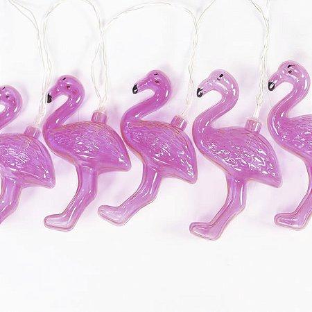 Cordão de Luz Flamingos - 2 M - 10 LED
