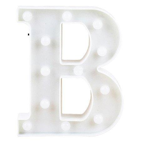 Letras Luminosas LED/ B - 22 CM - 1 Unidade