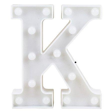 Letras Luminosas LED/ K - 22 CM - 1 Unidade