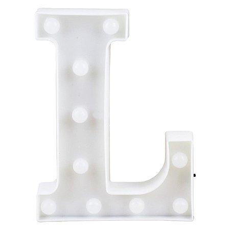 Letras Luminosas LED/ L - 22 CM - 1 Unidade