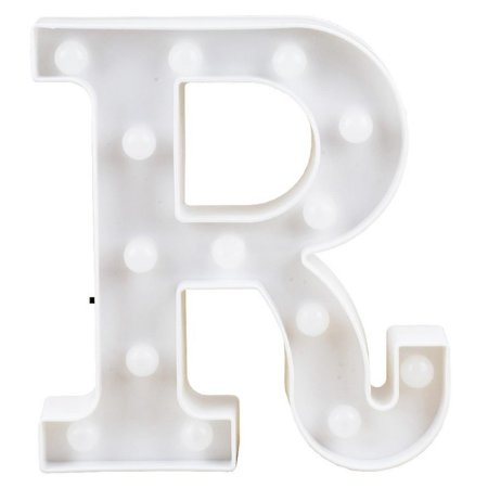 Letras Luminosas LED/ R - 22 CM - 1 Unidade.
