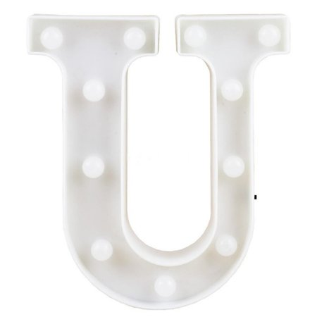 Letras Luminosas LED/ U - 22 CM - 1 Unidade.
