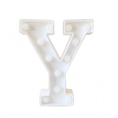 Letras Luminosas LED/ Y - 22 CM - 1 Unidade