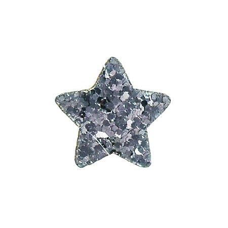 Aplique Estrelas Brilhosas - 2 cm - Kit com 10 Unidades
