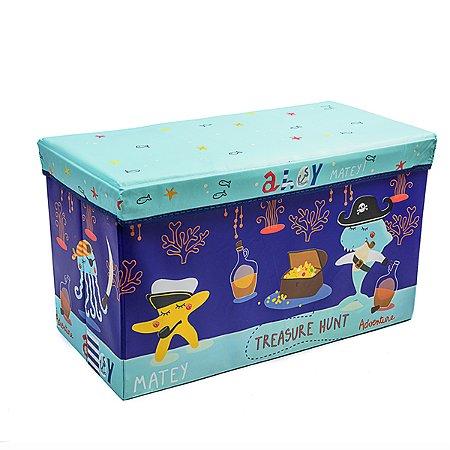 Caixa Retangular Orzanizadora Kids Oceano - 43 x 26 cm - 1 Unidade