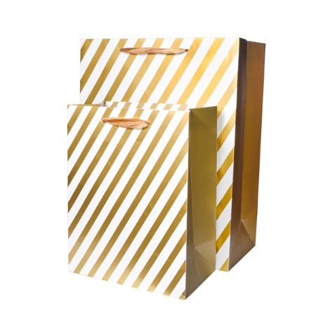 Sacola Listras Dourado - 42 x 31 cm - 1 Unidade