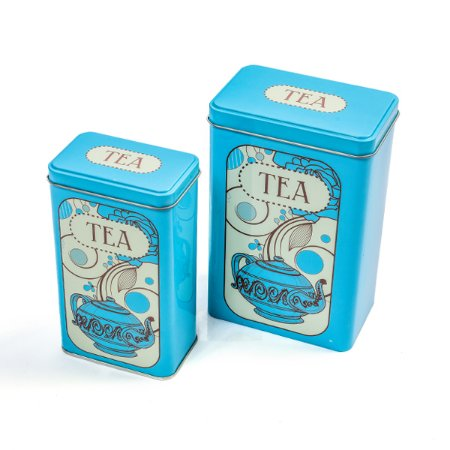 Lata Tea Blue - Kit com 2  Unidades