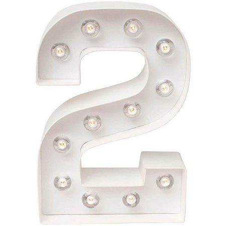 Número Luminoso LED/ 2 - 22 CM - 1 Unidade