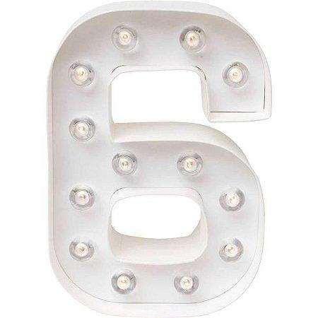 Número Luminoso LED/ 6 - 22 CM - 1 Unidade