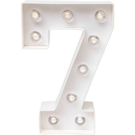 Número Luminoso LED/ 7 - 22 CM - 1 Unidade