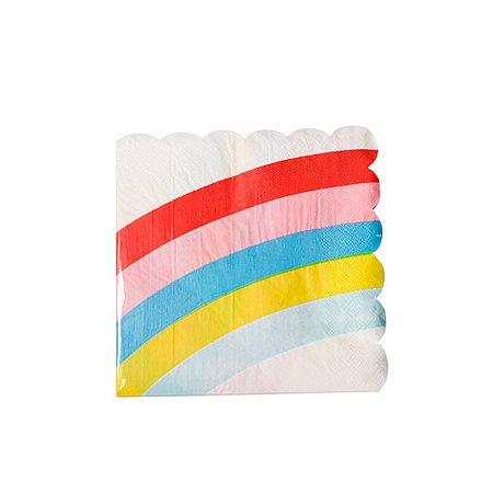 Guardanapo Waves Arco Iris - 33 x 33 cm. Embalagem com 20 folhas