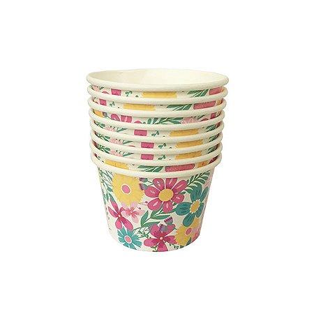 Potinho Jumbo Flowers UP - 6.5 x 9.5 cm - Embalagem com 8 unidades