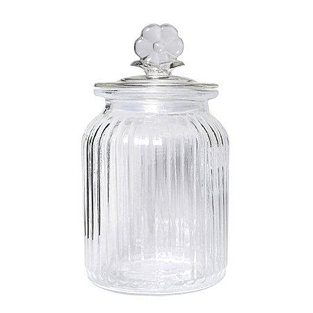 Bombonière Floral Cristal - 18 cm - 1 Unidade