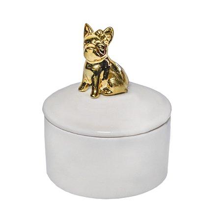 Caixa de Porcelana Dog Gold - 11 x 9 cm - 1 Unidade