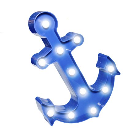 Âncora Azul Marinho Luminosa LED - 32 cm - 1 Unidade