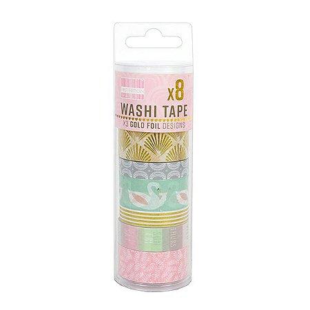 Tubo Fita Adesiva Washi Tape Cisne - 1,5 cm x 5 m. 1 Unidade