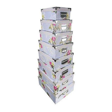 Caixa Retangular Cantoneira - Kit com 5 Caixas