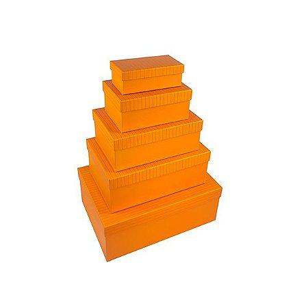 Caixa Retangular Alta - Kit com 5 Caixas