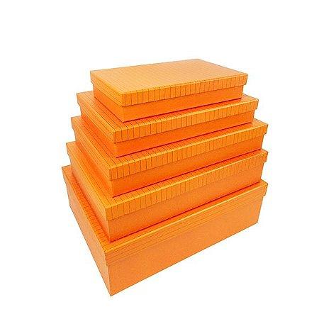 Caixa Retangular Baixa - Kit com 5 Caixas