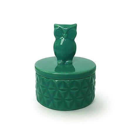 Caixa de Porcelana Coruja - 1 Unidade