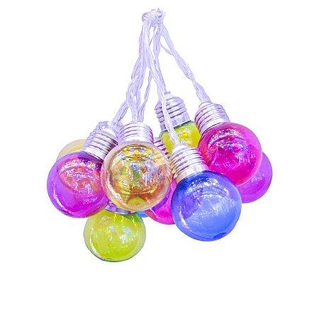 Cordão de Luz Lâmpadas Coloridas - 1 Unidade
