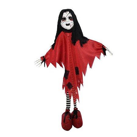 Enfeite Red Girl Halloween - 1 Unidade