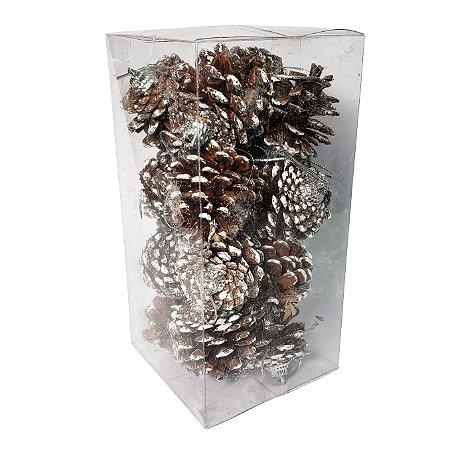 Enfeite Pinha de Natal - Embalagem com 16 Unidades