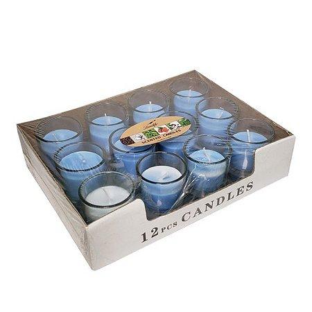Kit de Velas Good Time Azul - Cx 12 pçs