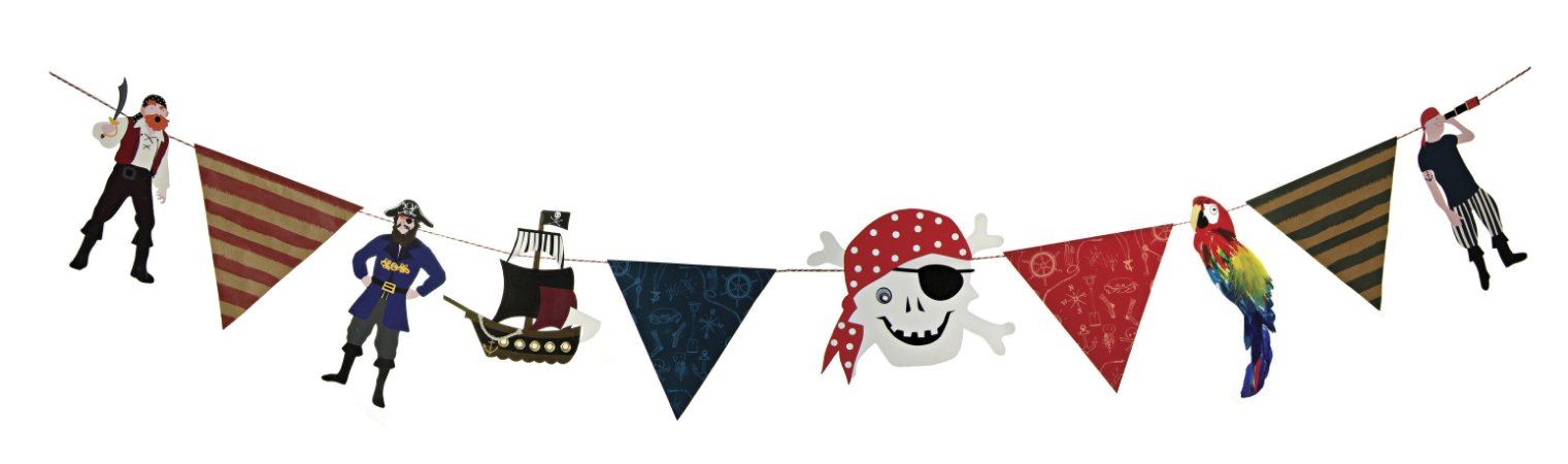 Bandeirola Papel Caveira Pirata - 1 Unidade