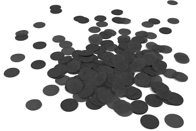 Confete de Papel Preto - 1 Unidade