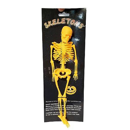 Esqueleto Decorativo Amarelo - 1 Unidade