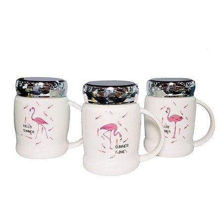 Copo Cerâmica Flamingo Warm - 3 Unidades