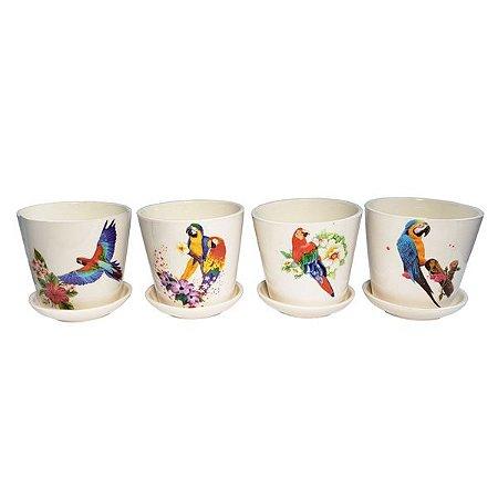 Vasinho Cerâmica Bird  - 4 Unidades