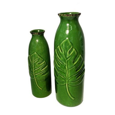 Vaso Cerâmica Tropic Green M - 1 Unidade
