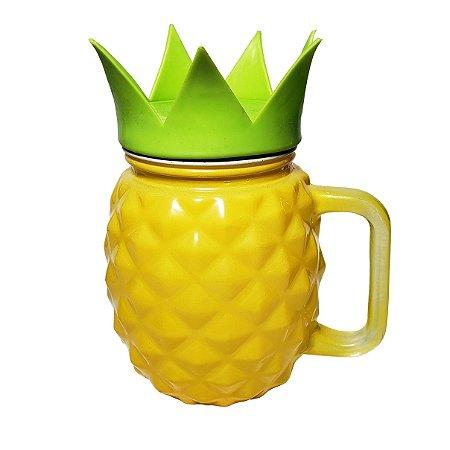 Copo Vidro Abacaxi Crown - 1 Unidade