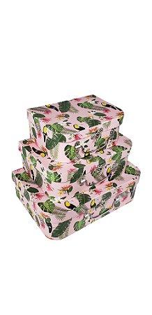 Caixa Maleta Tucano Candy -  Kit com 3 Unidades