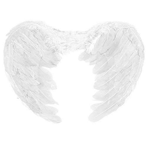 Asas de Poliéster Angel White - 1 Unidade