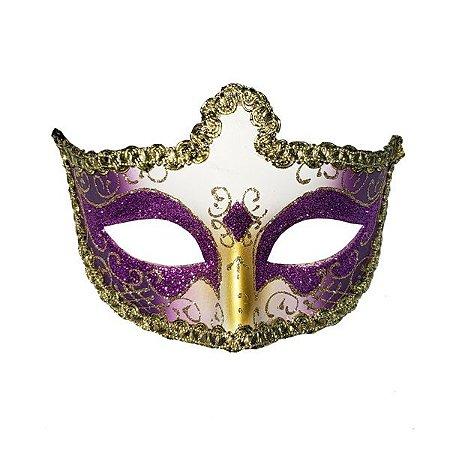 Máscara de Plástico Baile no Castelo - 5 peças - Cores sortidas